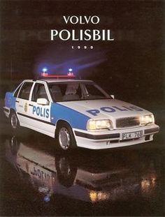 Volvo Police car in Sweden