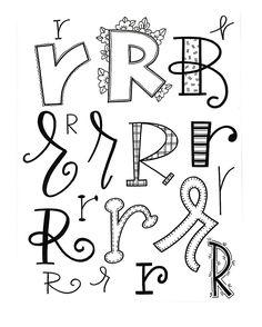 "416 Me gusta, 7 comentarios - Jessie Arnold (@mrs.arnoldsartroom) en Instagram: ""Letter R! #handletteredabcs #handletteredabcs_2017 #abcs_r #letterart #letteringartist #letterer…"""