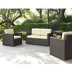 3-Piece Demi Wicker Seating Group