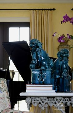 photo shoot for B.Davis+Co. / St. Louis / David Fuller Photography :: gorgeous Foo Dogs
