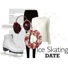 """""""Ice Skating Date"""" by aetbanana on Polyvore"""
