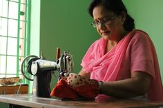 This is Pretiba, one of JOYN's first stitchers. An expert stitcher and hug giver.