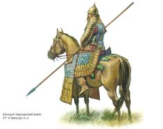 Achaemenid Persian Extra Heavy Cavalry, from the time of Alexander the Great.