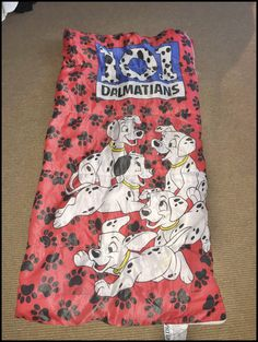 Vintage 90's Disney 101 Dalmatians Dalmations Sleeping Bag by RackRaidersVintage on Etsy
