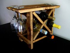 Reclaimed Wood Wine Rack Table Top Counter Top Bar Top Barn Wood
