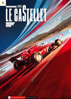 Scuderia Ferrari - French Grand Prix cover art by Federico Carlo Ferniani Grand Prix, F1 Posters, F1 Wallpaper Hd, Gp F1, Sports Graphic Design, Formula 1 Car, Premium Cars, Vintage Racing, Courses
