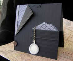 Cuttlebug Cards For Men | Mel Stampz: Shaped cards, & Funky Folds--LINK, templates, tutorials...