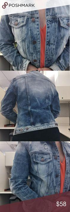 EXPRESS Distressed Denim Jean Jacket S Like new!!! Express Jackets & Coats Jean Jackets