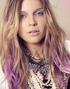 purple and blonde hair balayage, might try this out on my next trip to the hairdresser