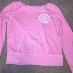 Vs Pullover Light pink sweatshirt with a small pen mark on the right sleeve (picture provided) PINK Victoria's Secret Tops Sweatshirts & Hoodies