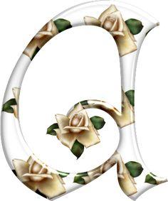 Alfabeto Florido PNG....A
