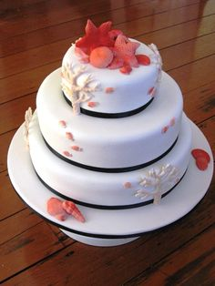 fish decorated wedding cake - Google Search