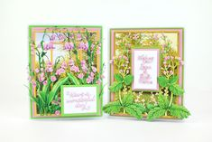 Tattered Lace Cards, Elizabeth Craft, Hollyhock, Die Cut Cards, Lily Of The Valley, Bliss, Woods, Card Ideas, Flowers