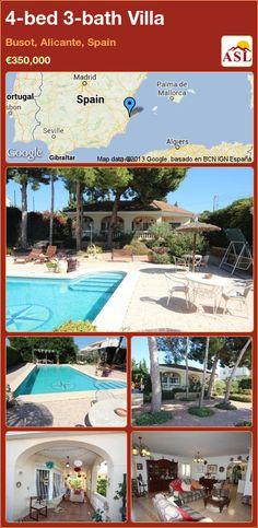 4-bed 3-bath Villa in Busot, Alicante, Spain ►€350,000 #PropertyForSaleInSpain