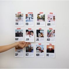 30 Fantastic Ways To Display Your Photos In Your House - Feminine Buzz Creative Gifts For Boyfriend, Boyfriend Gifts, Friend Birthday Gifts, Diy Birthday, Photowall Ideas, Kalender Design, Diy Calendar, Gifts For Office, Diy Photo