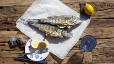 Grilled Sea Bass | Villeroy & Boch #Blue Farmhouse Touch plate