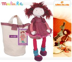 Jeanne - Les Coquettes - Moulin Roty: Cute doll which comes in her own carrying sack.