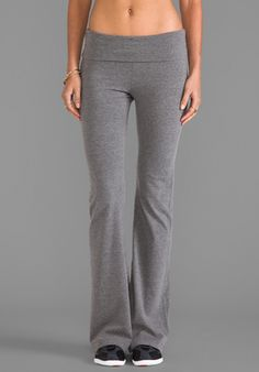 SO LOW Basics Fold Over Pant in Medium Heather Grey