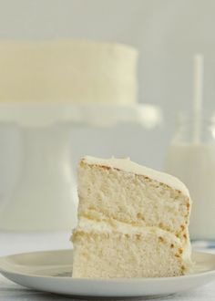 The best fluffy vanilla cake you will probably ever eat.  I love this blog! by nightshade