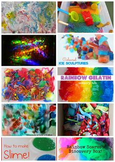 rainbow sensory play ideas for kids
