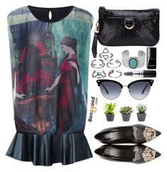 """""""Banggood.com"""" by simona-altobelli ❤ liked on Polyvore featuring Versace, Lucky Brand, MAC Cosmetics, Chanel and Gucci"""