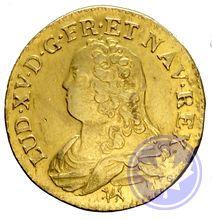 Monnaie royale française louis d'or aux lunettes 1726h Louis XVI ttb