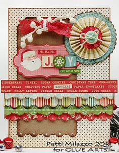 Holiday card from Designer @Patti B B Milazzo using #GlueArts and @Brenda D Wolf Afternoon