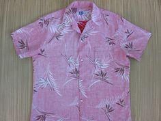 Hawaiian Shirt 80s Vintage RJC Bird of Paradise Reversed Print Aloha Shirt 100% Cotton Casual Mens Camp - L - Oahu Lew's Shirt Shack by OahuLewsShirtShack on Etsy