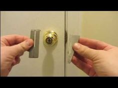 Homemade Portable Door Lock -EZ SIMPLE - YouTube Fab for holidays!!