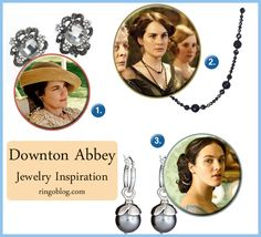 Downton Abbey Jewelry Inspiration #jewelry Earrings and Necklace