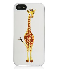 Adorable. Giraffes always make me think of magic because oh my gosh those necks are so awesomely bizarre and amazing. :: Giraffe Case for iPhone 5/5s