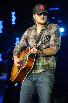 Country Music Star On Stage