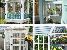 4 Greenhouses Made From Recycled Windows: Smart, budget-friendly tricks to create your own backyard greenhouse with salvaged materials