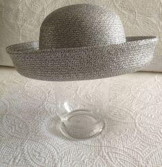 Vintage Silver Metallic Hat by Georgi by BarbeeVintage on Etsy Large Brim Hat, Vintage Silver, Hats For Women, Metallic, Etsy, Style, Fashion, Swag, Moda