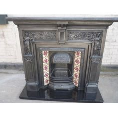 CS105 Classic Victorian Cast Iron Fire Surround with qualtiy Stovax insert
