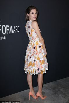 The evening was in honour of David O. Russell's collaboration with Prada to create a short film called Past Forward which will be featured on the fashion house's website