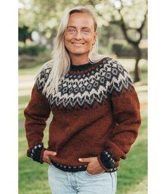 Icelandic Sweaters, Wool Sweaters, Knitting Sweaters, Nordic Sweater, Men Sweater, Fair Isle Knitting Patterns, Knitting Wool, Sweater Outfits, What To Wear