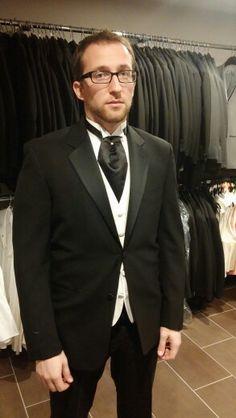 Plat vest black cravat