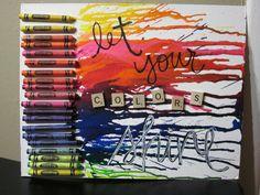 crayon melting idea via Pinterest
