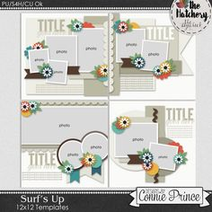 Surf's Up - Templates (CU Ok) by Connie Prince. Good Press, Surfs Up, Word Art, Art Images, Digital Scrapbooking, Surfing, Prince, Place Card Holders, Templates