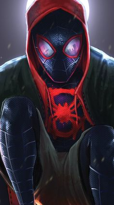 Miles Morales - Ultimate Spider-Man, Into the Spider-Verse Amazing Spiderman, Black Spiderman, Spiderman Spider, Marvel Dc Comics, Marvel Vs, Marvel Heroes, Ultimate Spider Man, Wallpaper Animé, Marvel Wallpaper