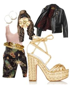 """""""That's my boyfriends Jacket"""" by ronnyisland ❤ liked on Polyvore featuring Sans Souci, Beautiful People and Alchimia Di Ballin"""