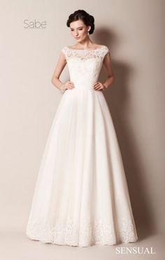 Skromna a zarazem bardzo kobieca suknia ślubna - Podoba Wam się