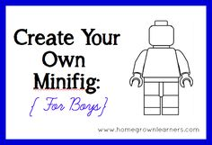 Create Your Own LEGO Minifigures Printables: For Boys & Girls