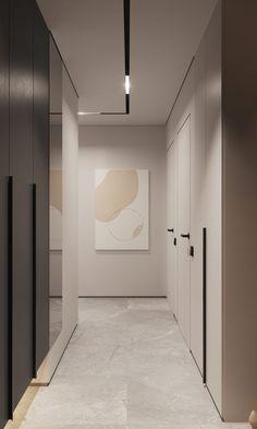 Suave 60 Sqm Home Designs With Black, Grey & Tonal Brown Decor Home Room Design, Dream Home Design, Bathroom Interior Design, Interior Decorating, House Design, Modern Villa Design, Modern Interior Design, Interior Architecture, Corridor Design