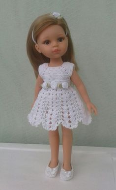 Croochet Dress made by Lilly Santiago Crochet Patterns Dress Crochet Dress made by Lilly Santiago Click Visit link above for more info crochet barbie doll clothes for beginners Jake s cocktail dress barbie This Pin was discovered by Rhofashion 20 free vin Crochet Doll Dress, Crochet Fabric, Crochet Doll Clothes, Crochet Doll Pattern, Girl Doll Clothes, Barbie Clothes, Girl Dolls, Barbie Patterns, Doll Clothes Patterns