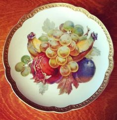 Gorgeous plate from Heirloom in Locust Valley, NY. Corinne's Collectibles