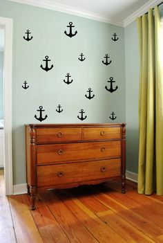 Original Anchor Pack by 3rd Ave Shore - Removable Vinyl Wall Decals - Removable Wall Stickers - Nautical Decor Handmade in Kailua Hawaii on Etsy, $25.00