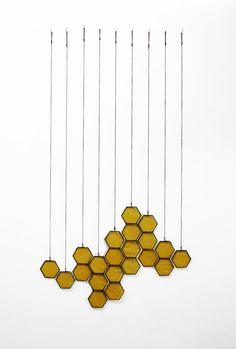 Sure there's a less costly option  to these gorgeous - Stained Glass Honeycomb Drops set of 10 by BespokeGlassTile, $105.00