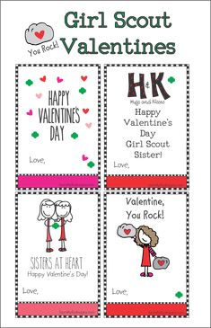 Girl Scout Valentine Free Printable